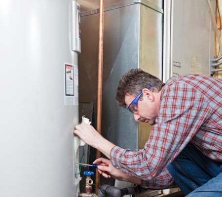 Water heater repair by our plumber in Brea